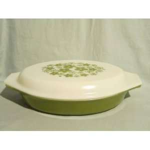 Vintage 1970s Pyrex  Spring Blossom or Crazy Daisy  Divided