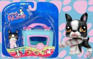 LITTLEST PET SHOP BOSTON TERRIER #63 RETIRED FIRST 80