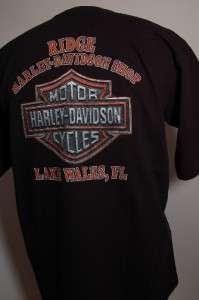 HARLEY DAVIDSON T SHIRT LARGE  RIDGE HD SHOP, LAKE WALES FL.