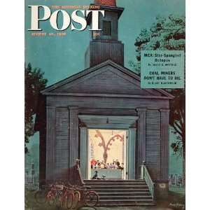1946 SEP Cover Choir Practice Church Stevan Dohanos   Original Cover