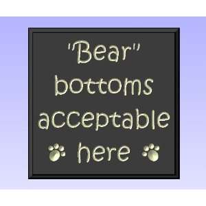 Decorative Wood Sign Plaque Wall Decor with Quote Bear