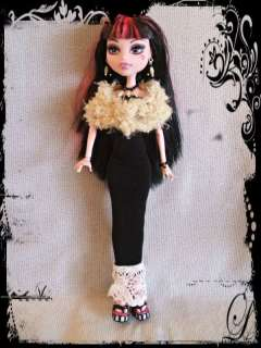HANDMADE CUSTOM GOTH FASHION Clothes Gown Stole Jewelry 4 MONSTER HIGH