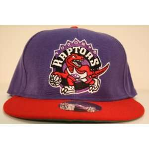 Purple/Red Two Tone Snapback Adjustable Plastic Snap Back Hat / Cap