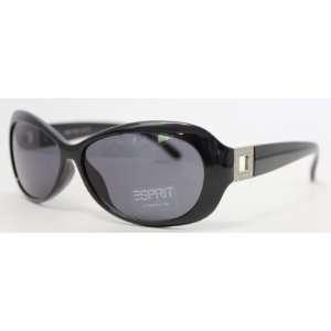 Esprit Sunglass Oval Black Plastic Fashion Silver Square