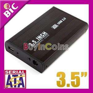 USB 2.0 3.5 SATA HDD Hard Disk Drive External Case