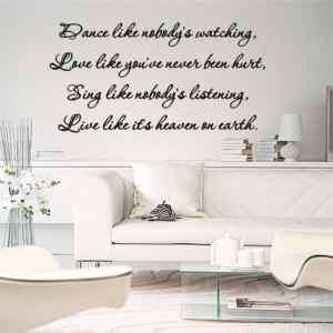 Wall Lettering Dance Love Sing Live Vinyl Words Decal