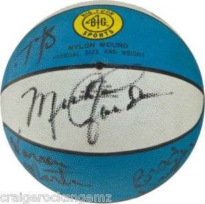 Michael Jordan North Carolina 1984 Team Signed Ball PSA