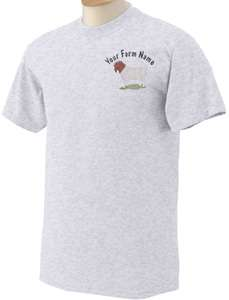 Buck Boer Meat Goat Custom Ranch Farm Name Embroidered T Shirt S M L