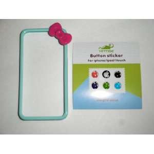 Skin Case Cover With Kitty Style Pink Bow For iPhone 4S or iPhone 4