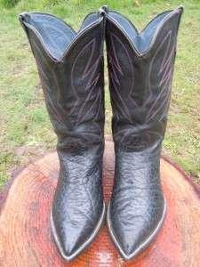 VINTAGE BULLHIDE CUSTOM HANDMADE WESTERN COWBOY BOOTS SIZE 8.5   9 EE