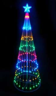 LED MULTI LIGHTS SHOW TREE STAR CHRISTMAS DECORATION