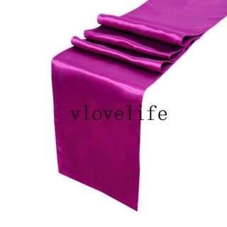 Deep Red purple Satin Table Runner 12 x 108 Wedding