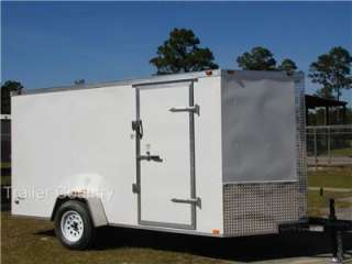 NEW 6x12 6 x 12 V Nose Enclosed Cargo Trailer w/ RAMP