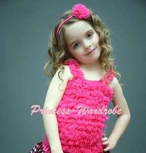 Bright Pink Ruffles Tank Top Pettitop Pettiskirt 1 8 Yr