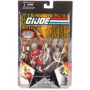 Wave 6 Action Figures Comic Book 2 Pack Snake Eyes and Hard Master