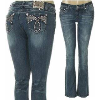 L.A. Idol Jeans with Rhinestone & Distress Details by LA IDOL
