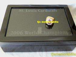 2006 ST LOUIS CARDINALS WORLD SERIES CHAMPIONSHIP RING & PRESENTATION