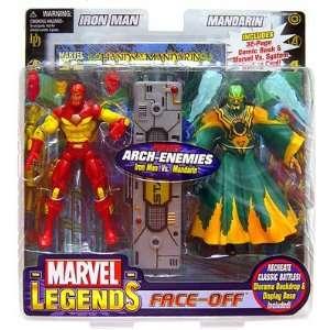 Marvel Legends Face Off Iron Man Vs. Mandarin  Toys & Games