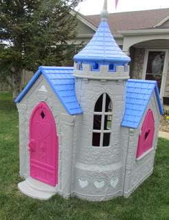 Disney Princess Lets Pretend Playhouse Castle Play Tent & Little Tikes Playhouse Country Cottage. Little Tikes Country ...