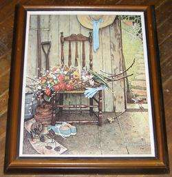 Norman Rockwell Spring Flowers on Canvas From the Norman Rockwell