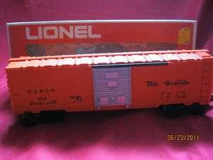 LIONEL DENVER, RIO GRANDE BOX CAR 6 9705 W BOX EUC