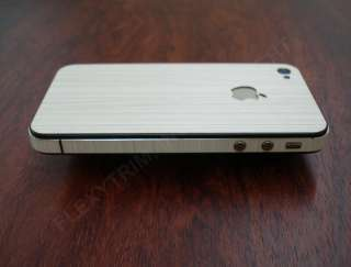 APPLE iPHONE 4/4S ROYAL WHITE WOOD FULL BODY WRAP PROTECTOR DECAL SKIN