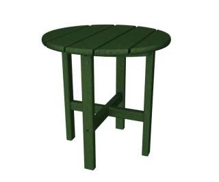 Round Recycled Plastic Side End Table Polywood Retro