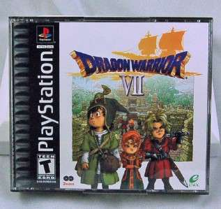 Dragon Warrior VII (Sony PlayStation 1, 2001) PS1 PS2 PS3 Black Label
