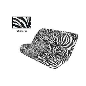 and White Zebra Tiger Print Bench Car Truck SUV Seat Cover Beauty