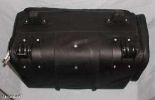 GENUINE LEATHER FLIGHT Bag Case Carry on Laptop wheeled