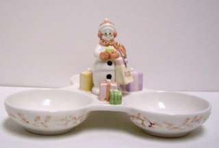 Avon Presidents Club Snow Lady #2 Holiday 3 Part Dish