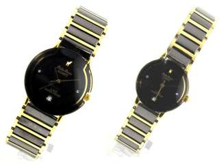 Philip Persio Brand Two Tone Black & Gold Watch Day