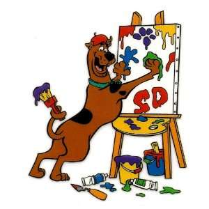 Scooby Doo Shaggys pet dog ARTIST painting with paw and tail Iron On