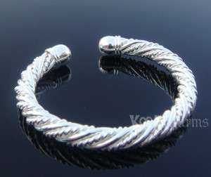 Silver Rope Cuff Bangle Bracelet Xmas Gifts G05