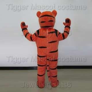 Adult Size Tigger Costume Cartoon Mascot Tiger Costume