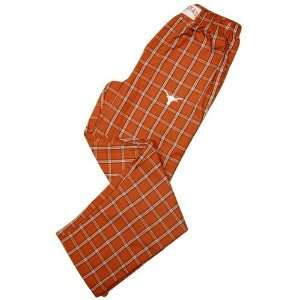 Texas Longhorns Burnt Orange Plaid NCAA Cover Pajama Pants