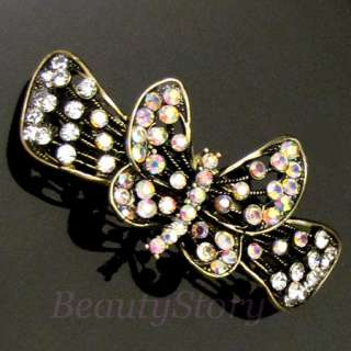 ADDL Item , 1 pc antiqued rhinestone crystal flower hair