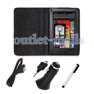 Fire   Folio Carry Case Cover / Car Charger / USB Cable Cord / Stylus