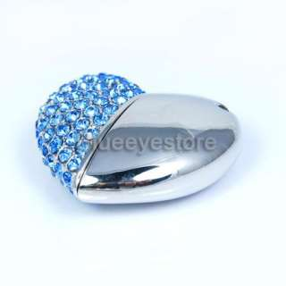 16GB Swarovski Heart Jewelry USB 2.0 Flash Memory Pen Drive Stick Real