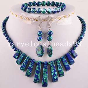 Multi color Turquoise Necklace Bracelet Earrings Set G4119