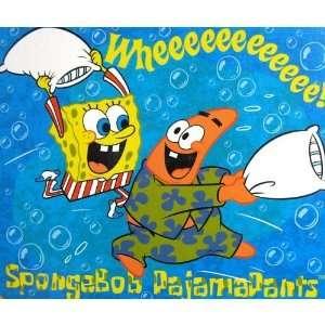 Royal Plush Raschel Blanket/Throw   Spongebob Squarepants