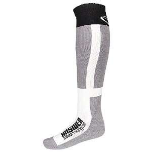 2011 Answer Knee High Moto Socks Thick Gray/White Sports