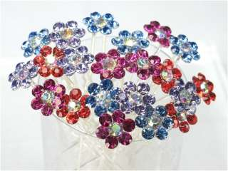 Wholesale Lot of Bridal Wedding Color Crystal Hair Pins
