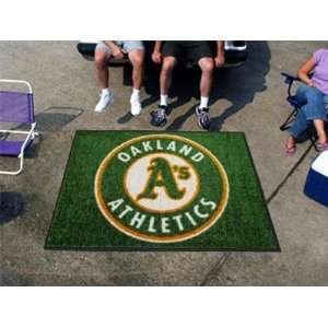 Exclusive By FANMATS MLB   Oakland Athletics Tailgater Rug