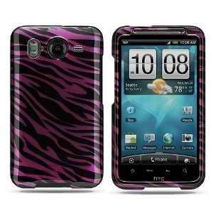 HTC Inspire 4G Crystal Black Purple Zebra Skin Premium Design Hard