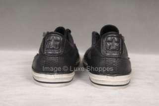 NIB John Varvatos Converse Ltd. Edition Black Leather Sneakers   Men