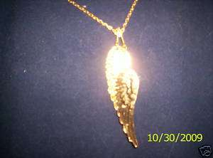 DOUBLE ANGEL WINGS NECKLACE, 24K GOLD OVERLAY