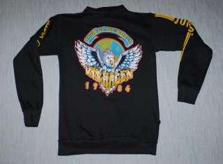 VINTAGE VAN HALEN TOUR OF THE WORLD SHIRT HOODIE 1984 L