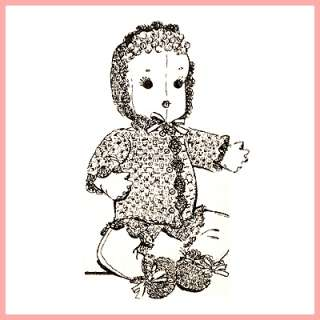 Vintage Cuddle Baby Doll Pattern + Crocheted Clothes