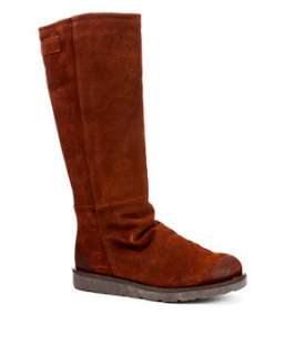 Brown (Brown) Bronx Suede Long Fur Lined Boots  236166120  New